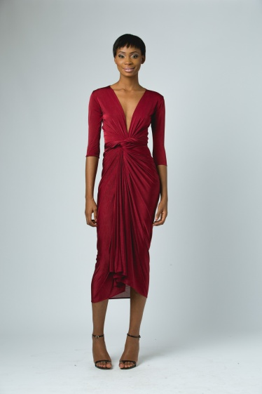 ejiro amos - celine wrap dress