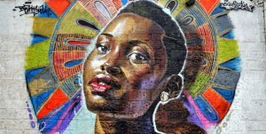 Lupita Nyong'o Mural at the GoDown Arts Centre by artist, Bankslave